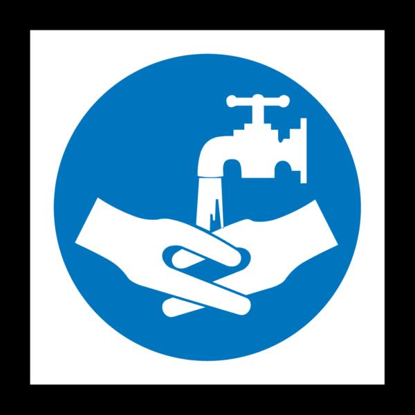 Handen wassen verplicht