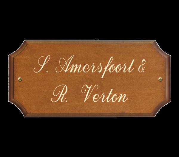 naambord van hout