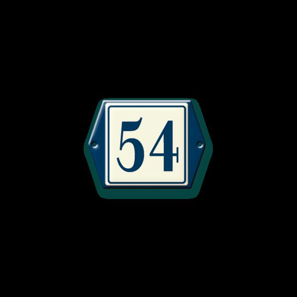 Klassiek huisnummerbordje